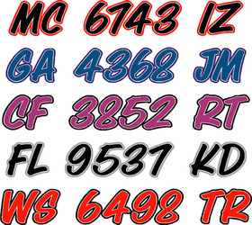 boat lettering and boat registration numbers